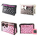Briefcase Pattern Make up/Cosmetics Bag with Mirror Loving Heart Lace Bowknot(Assorted Colors)