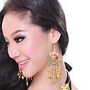 Performance Dancewear Shining Alloy with Gem Belly Dance Earrings