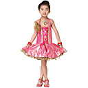 Rendimiento Dancewear Poliéster Latin Dance Dress For Children