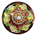 1W Contemporary Led Flush Mount DYC010 in Floral Crystal Design for Porch/Corridor/Aisle