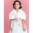 Flower Girl di Faux Fur sera / Wedding scialle