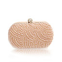Charming Satin with Pearls Evening Handbag/Clutches(More Colors)