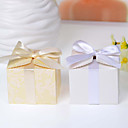 Simple Favor Box With Ribbon - Set of 12 (More Colors)