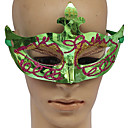 Green PVC Masquerade Party Mask