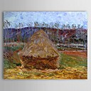 Famous Oil Painting Grainstack at Giverny by Claude Monet