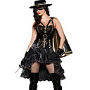 Sexy Cool Black Polyester Mystery Knight Costume (4 Pieces)