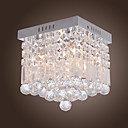 Contemporain cristal encastr avec 4 lumires en perles Design