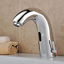 Chrome Bathroom Sink Faucet with Automatic Sensor (Hot and Cold)