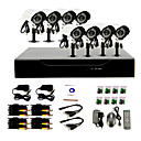 8 Channel DIY CCTV System with 8 Waterproof Cameras for Home & Office