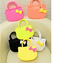 Girl's Sweet Fashion Cute Bow Tote Color of Bows on Random