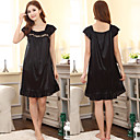 Women's Black Sexy Elegant Fashion Comfortable Lace Falbala Chemises & Gowns Waist 100cm