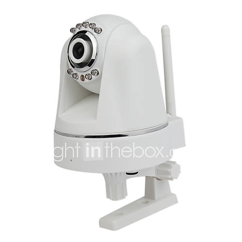  H.264 Pan Tilt Plug &amp; Play IR-cut Wireless IP Camera with SD Card Slot Day &amp; Night
